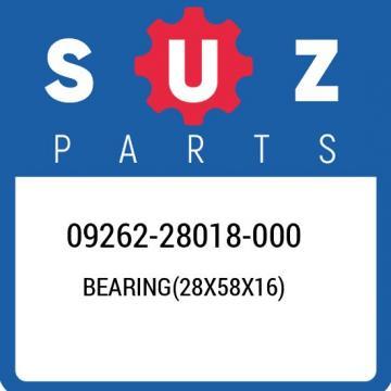 09262-28018-000 Suzuki Bearing(28x58x16) 0926228018000, New Genuine OEM Part